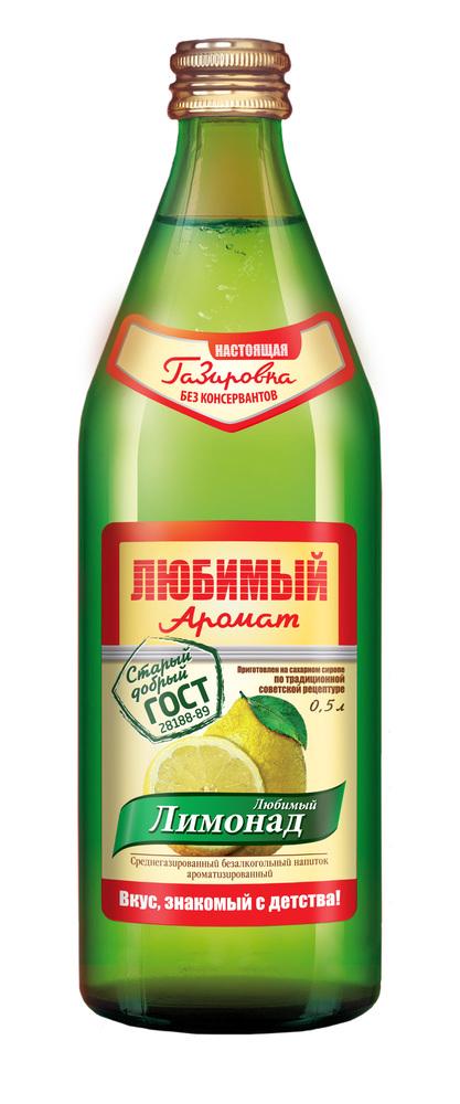 """Лимонад Любимый Аромат """"Лимонад"""", 0,45л"""