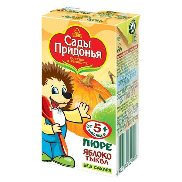 Купить Пюре Сады Придонья яблоко/тыква, 125гр, Россия