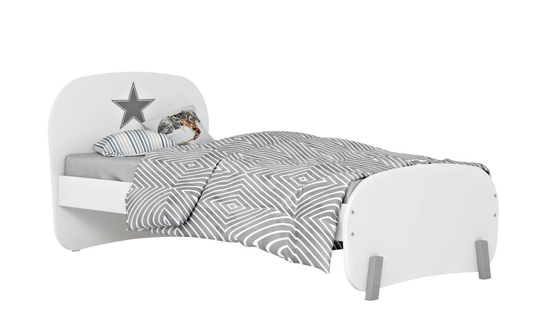 Кровать детская Polini kids Mirum 1910, белая фото