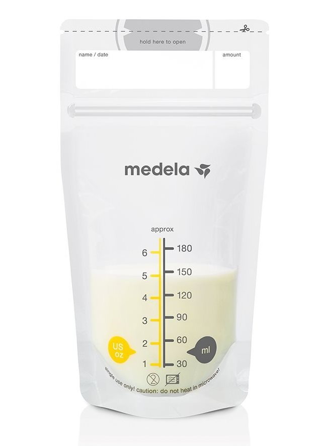 Пакеты одноразовые для сбора и хранения грудного молока Medela Pump&Save, 25шт.