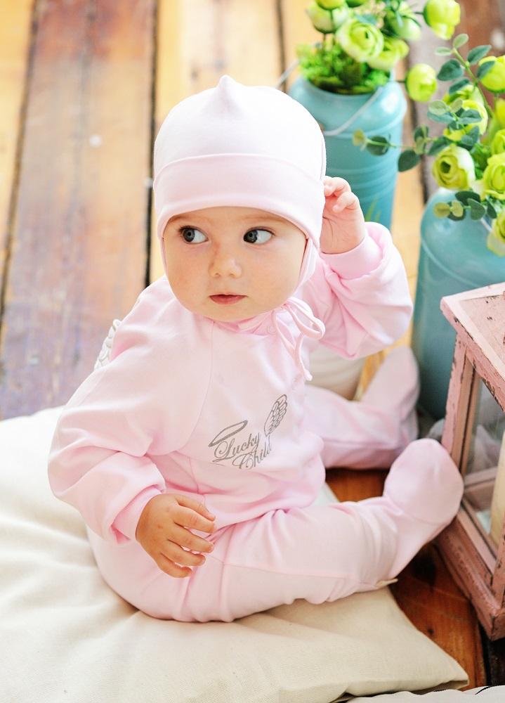 "Ползунки Lucky Child ""Ангелочки"", розовые фото"
