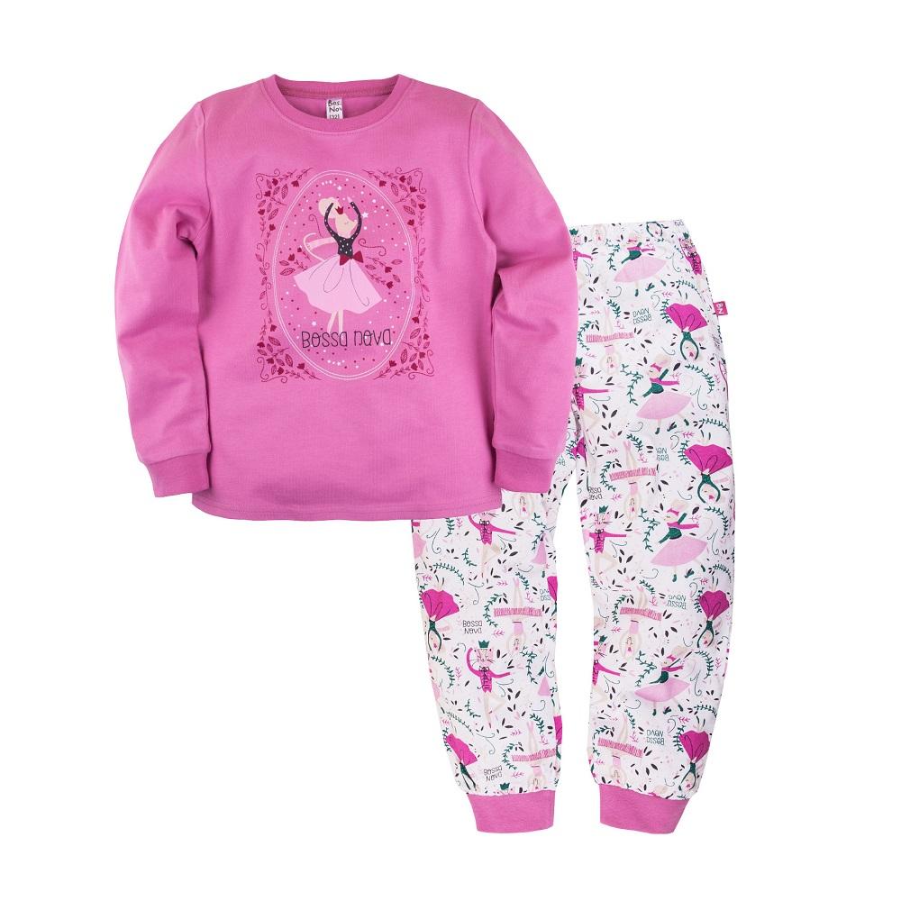 Купить Пижама Bossa Nova Маэстро для девочки: джемпер и брюки, Журавлик, Россия, Розовый, 122