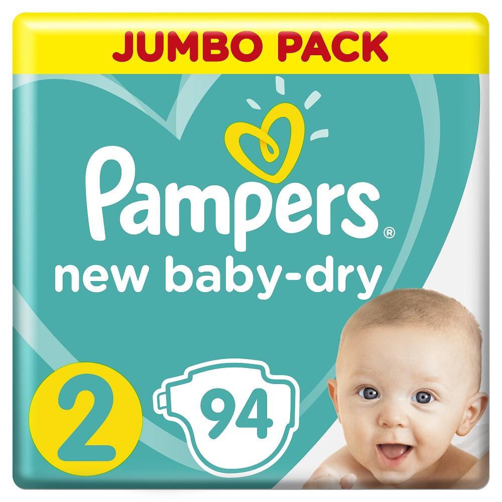 Подгузники Pampers New Baby-Dry Mini 2 (4-8кг), 94шт. фото