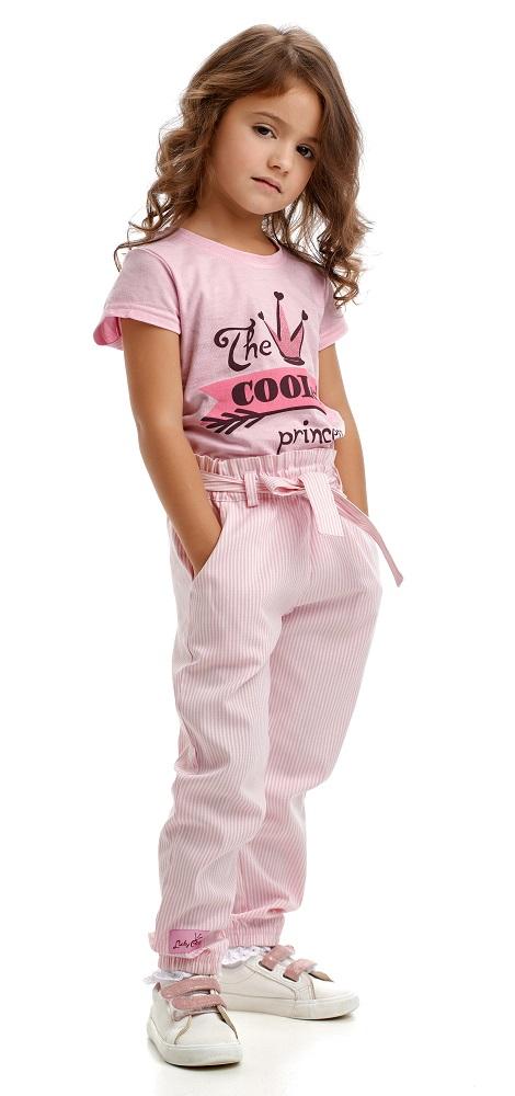 Купить Брюки Lucky Child Принцесса Сказки в полоску, Нордтекс, Россия, Розовый, 104