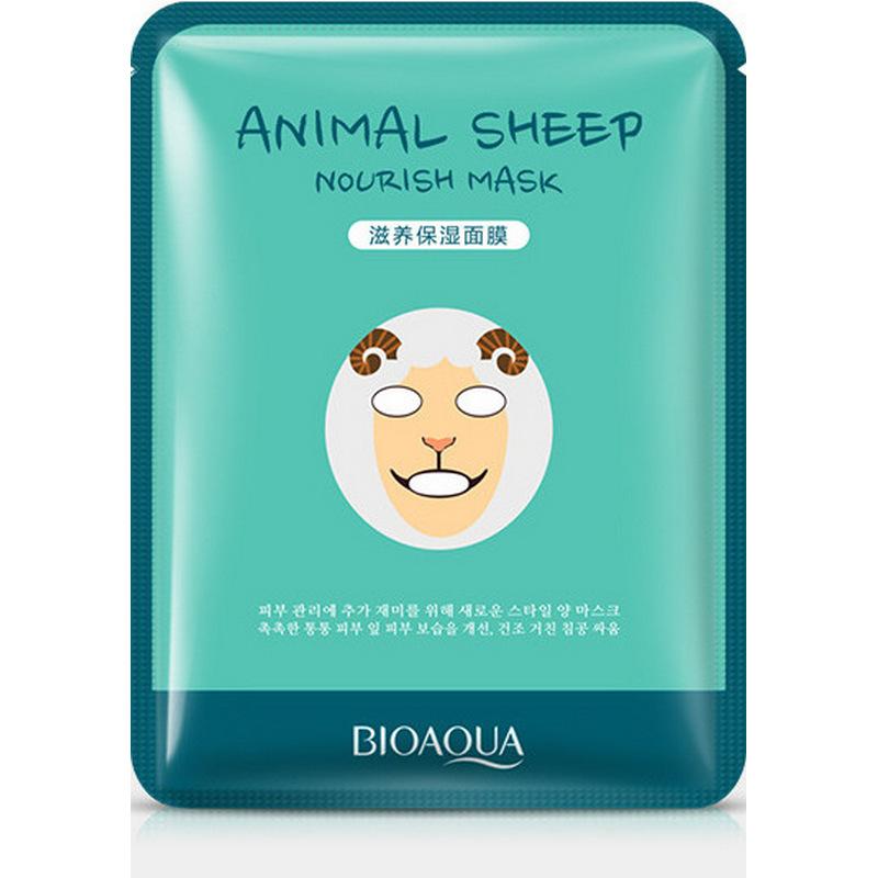 Купить Осветляющая маска BioAqua Animal Face Sheep, 30гр, Китай