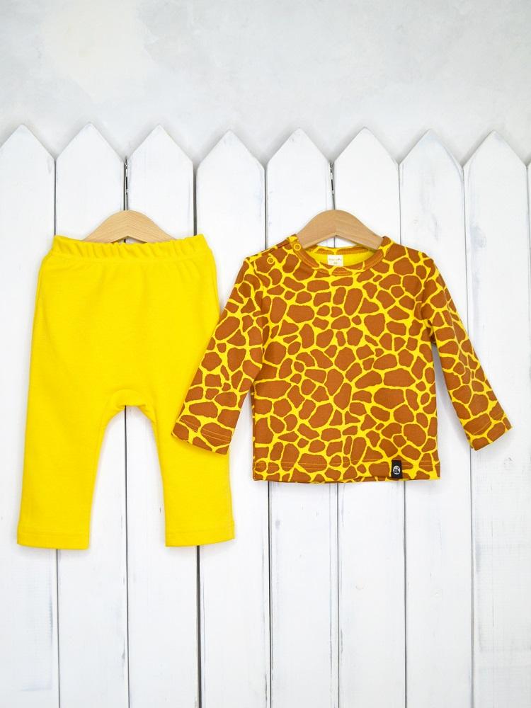 """Комплект детский Baby Boom """"Жираф"""": лонгслив и штанишки фото"""