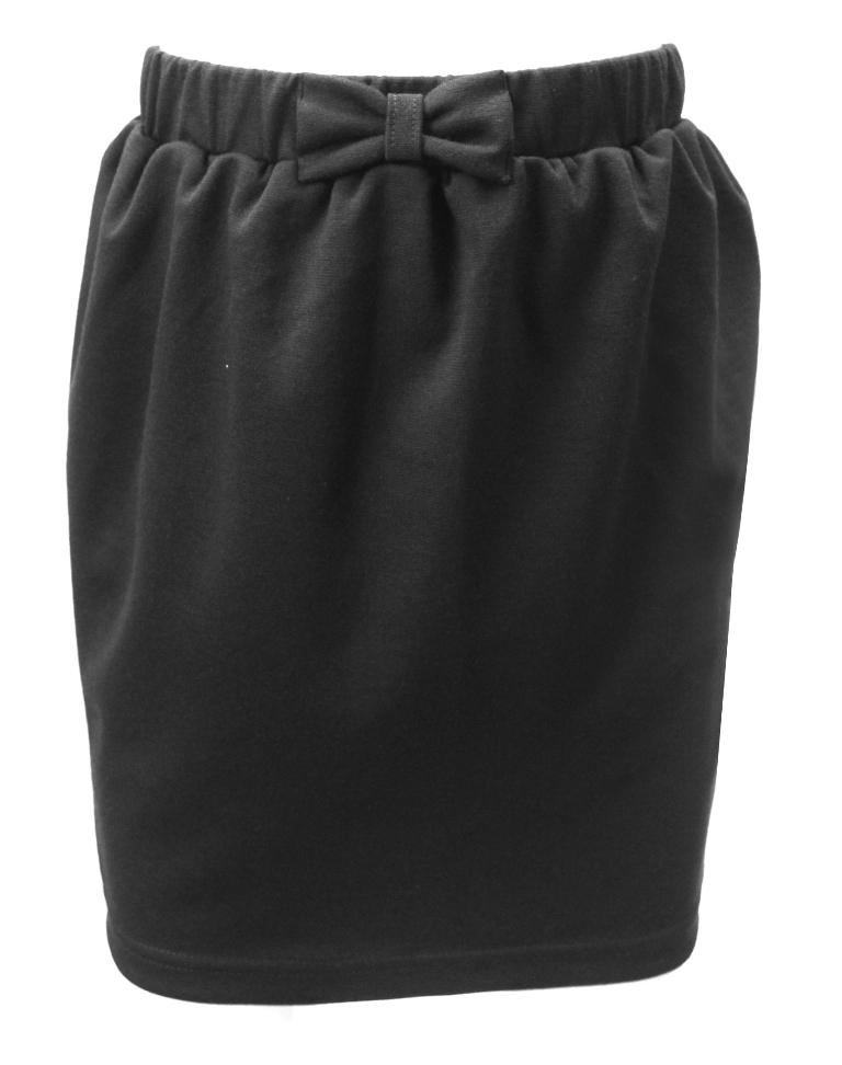 Юбка Clever с бантом, черная фото