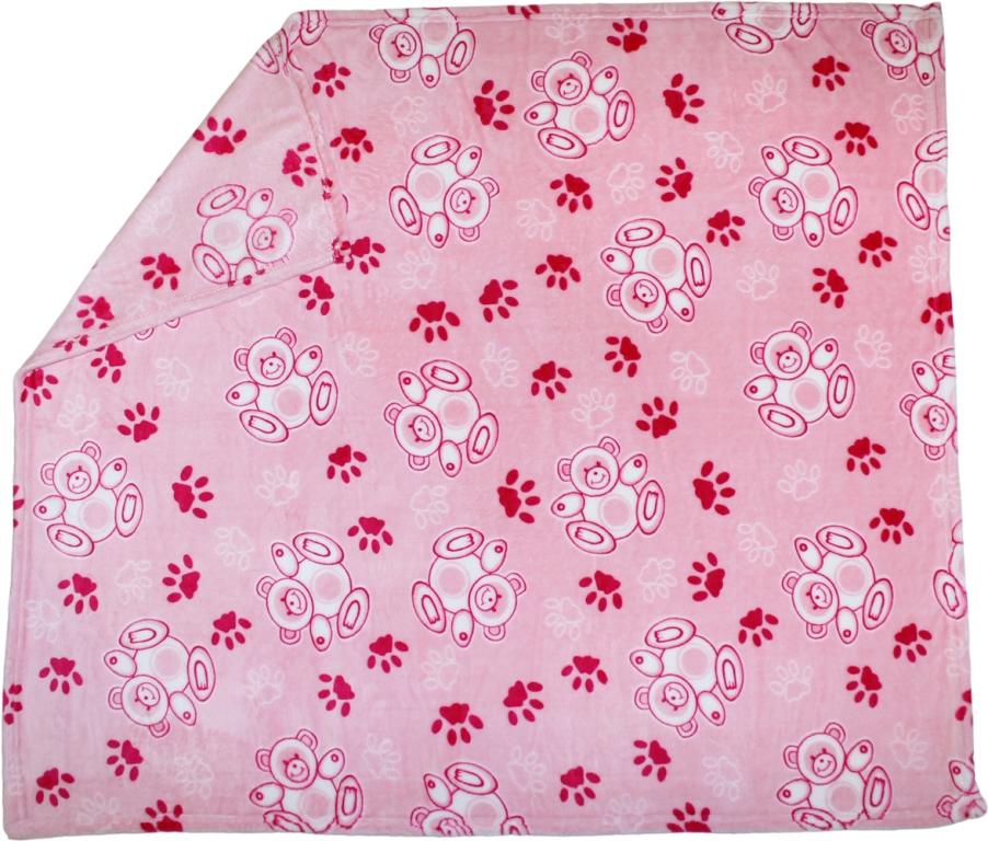 Купить Плед детский FunEcotex Мишки , 100х118см, Ququbaby, Россия, Розовый