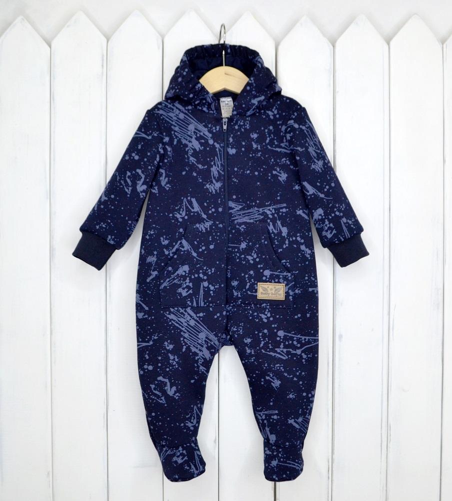 Купить Комбинезон Baby Boom с капюшоном, темно-синий, Наша Мама, Россия, Синий, 62