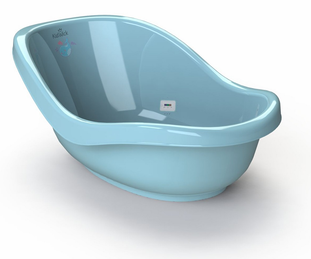 Купить Ванночка для купания Kidwick Дони , с термометром (цвета в ассорт.), Roxy Kids, Россия, Голубой