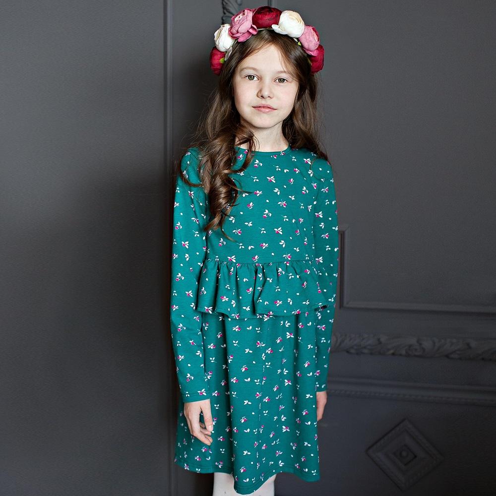 Купить Платье Bossa Nova Майя с оборкой на поясе, зеленое, Sohni-Wicke, Германия, Зеленый, 122