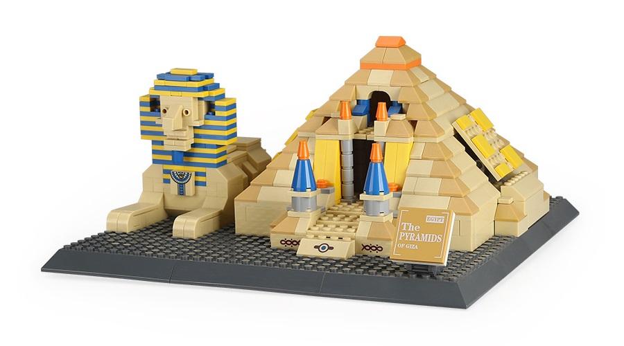 """Конструктор Wange """"Шедевры мировой архитектуры. Пирамиды Гизы"""", 643 элемента фото"""