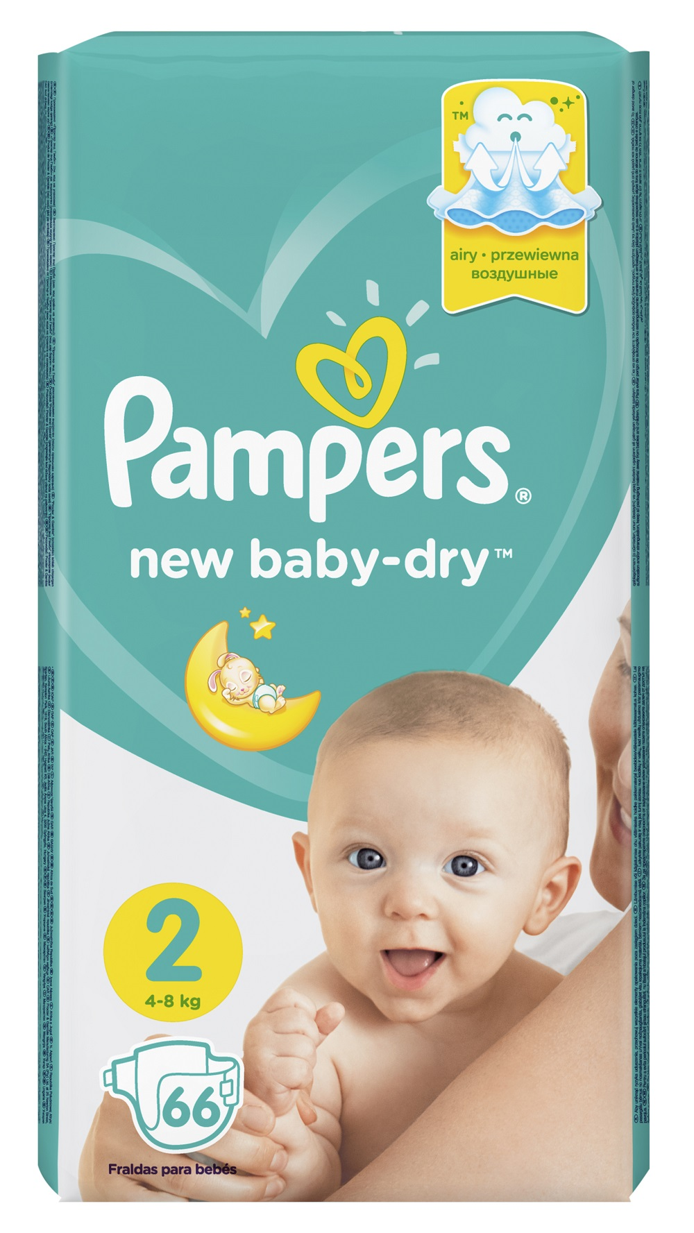 Подгузники Pampers New Baby-Dry Mini 2 (4-8 кг), 66шт.