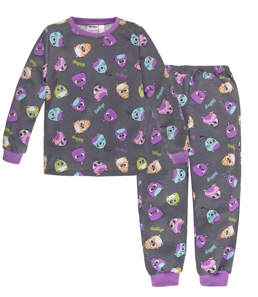Купить Пижама Bossa Nova Angry Birds для девочки: джемпер и брюки, Витоша, Россия, Мульти, 122