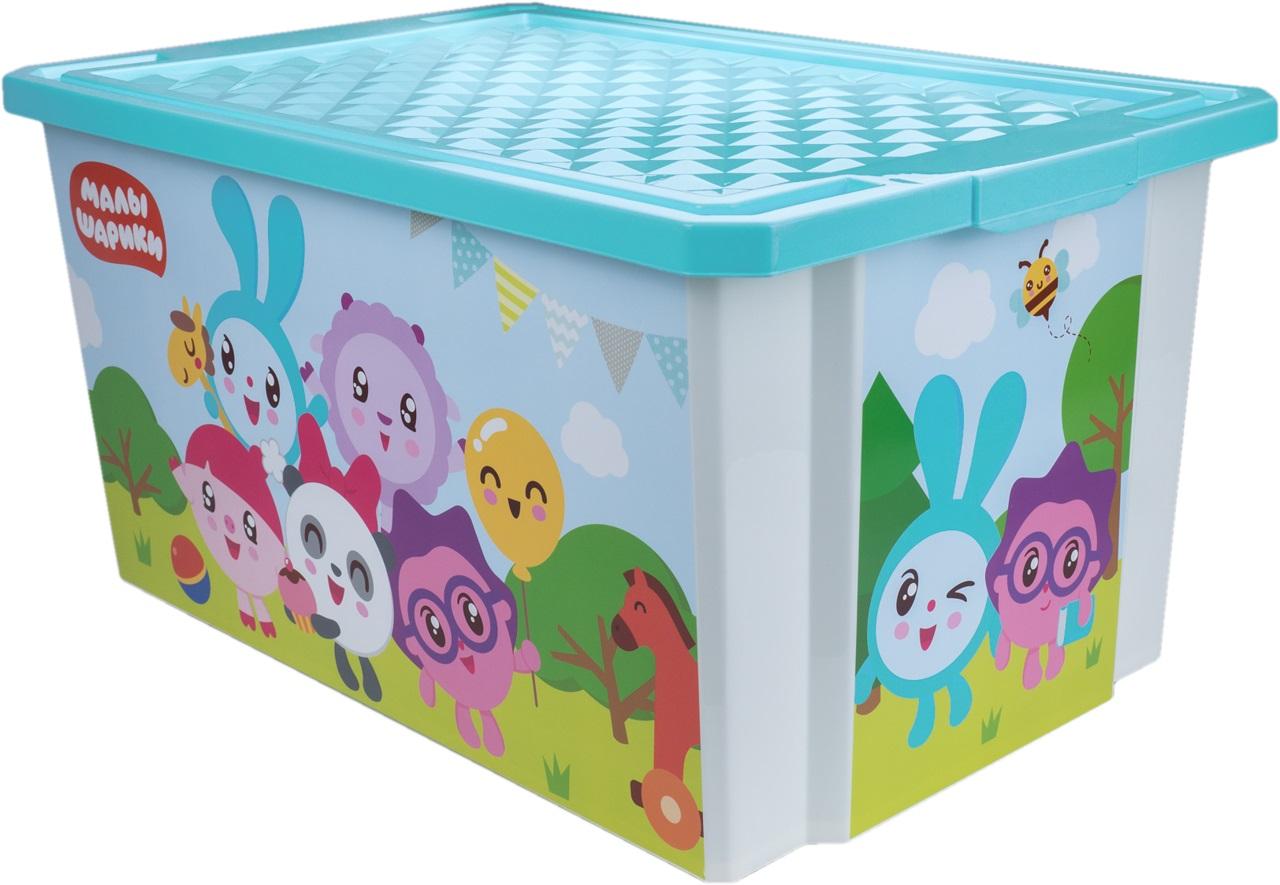 """Ящик для хранения игрушек Little Angel """"Малышарики"""", 17л"""