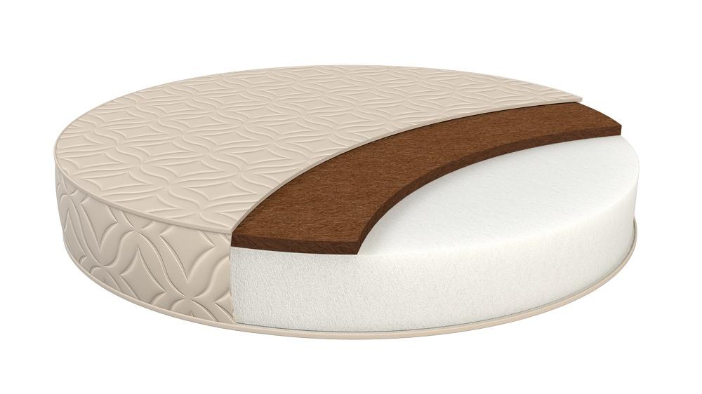 Купить Матрас в кроватку Sweet Baby Cocos DeLuxe круглый, диаметр 75см, Италия