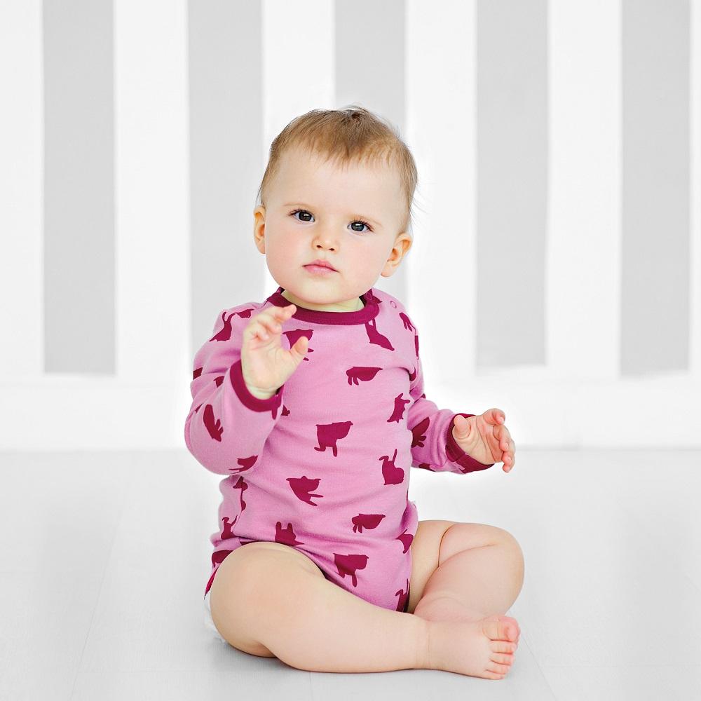 Купить Боди Bossa Nova Ёлки-иголки с длинным рукавом, розовое, Наша Мама, Россия, Розовый, 74