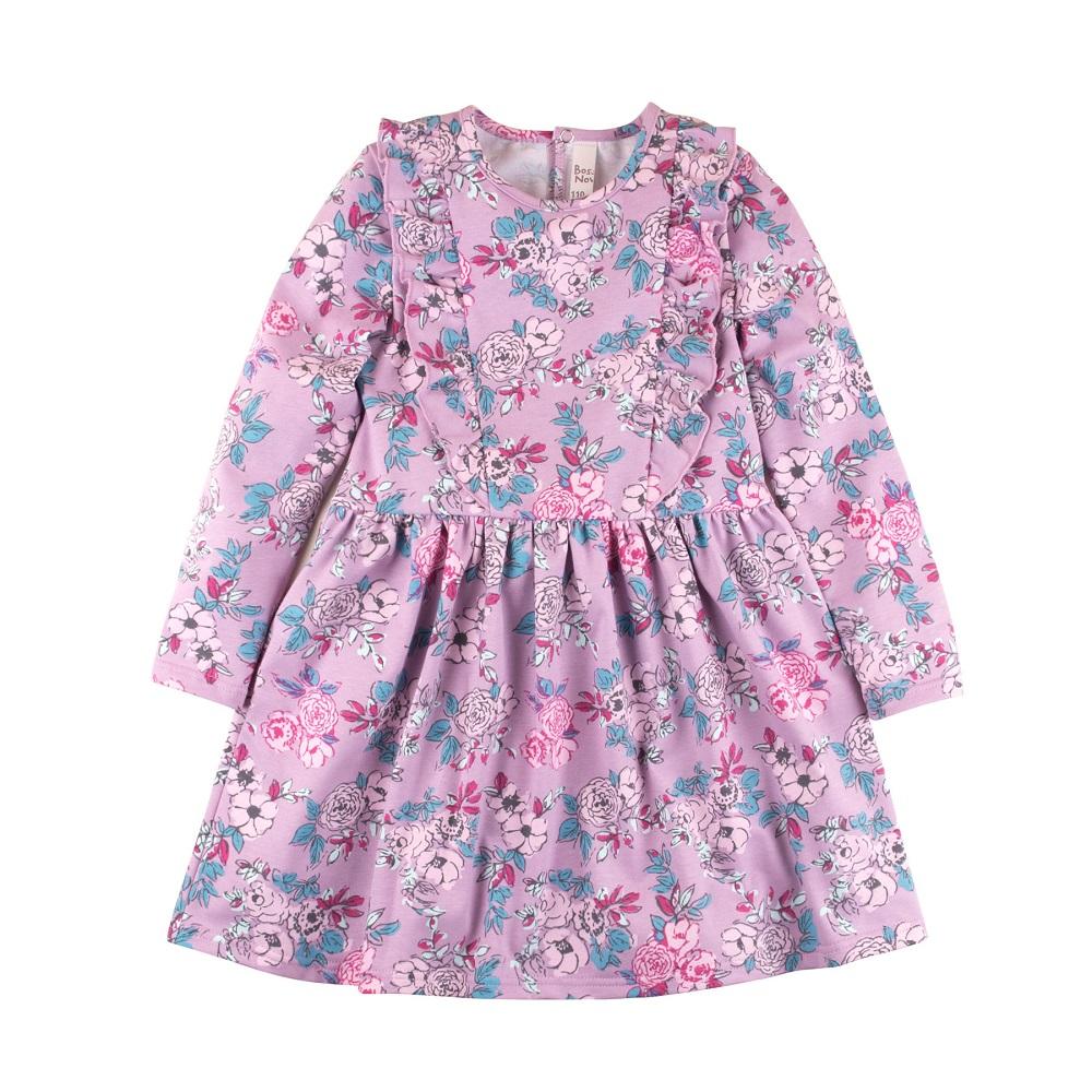 Купить Платье Bossa Nova Майя для девочки, сиреневое, Hasbro, США, Сиреневый, 122