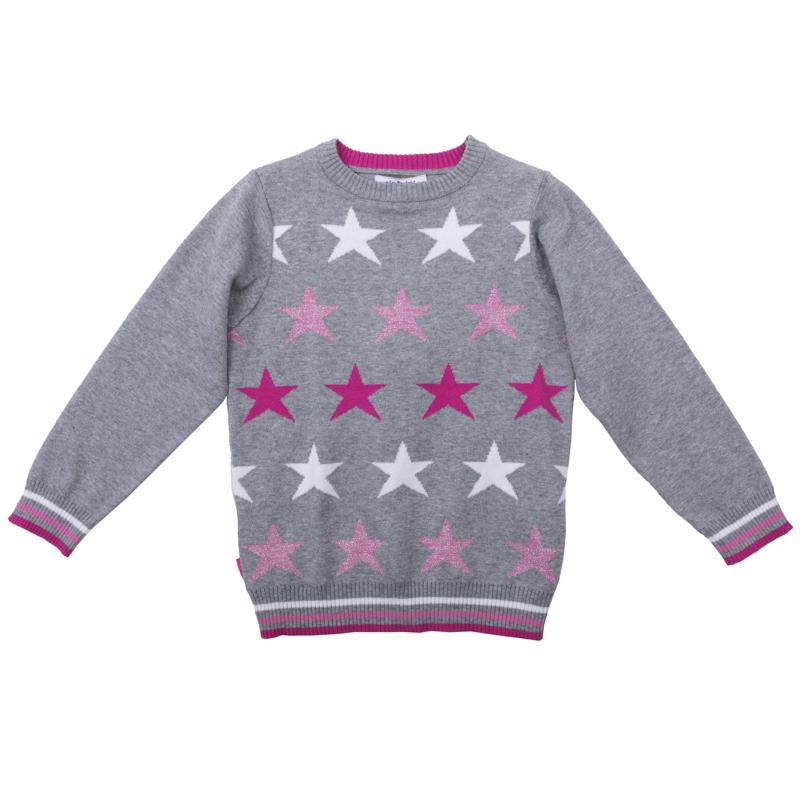 Купить Джемпер PlayToday серый, со звездами, Bembi, Украина, Серый, 98