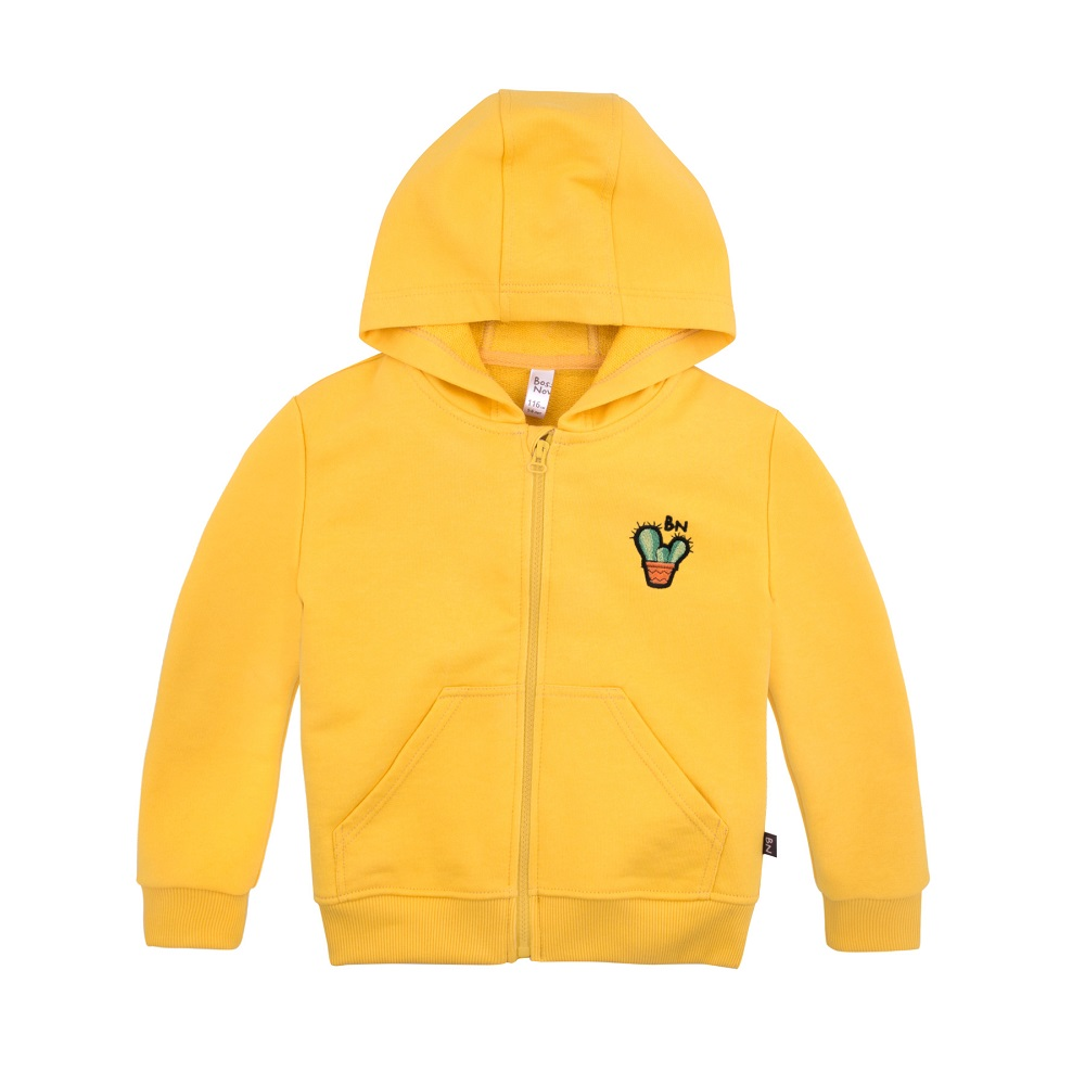 Купить Толстовка Bossa Nova Весна с капюшоном для девочки, желтая, Bembi, Украина, Желтый, 122