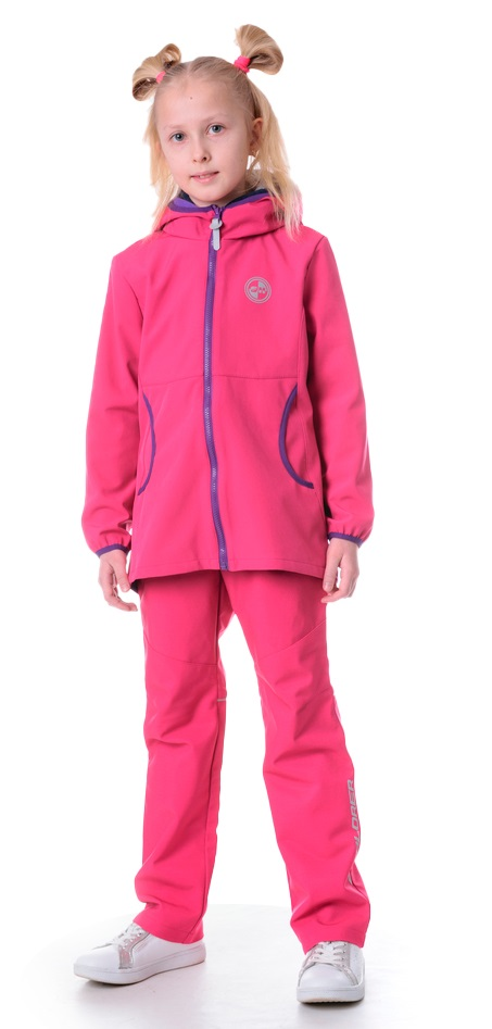 "Куртка для девочки Sherysheff ""Softshell"", фуксия ДетиЗим розового цвета"