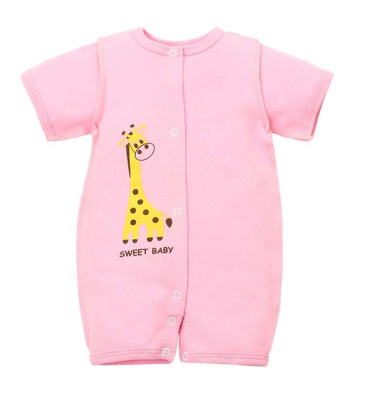 Купить Боди-песочник Бэбилита с жирафом, розовое, Наша Мама, Россия, Розовый, 56