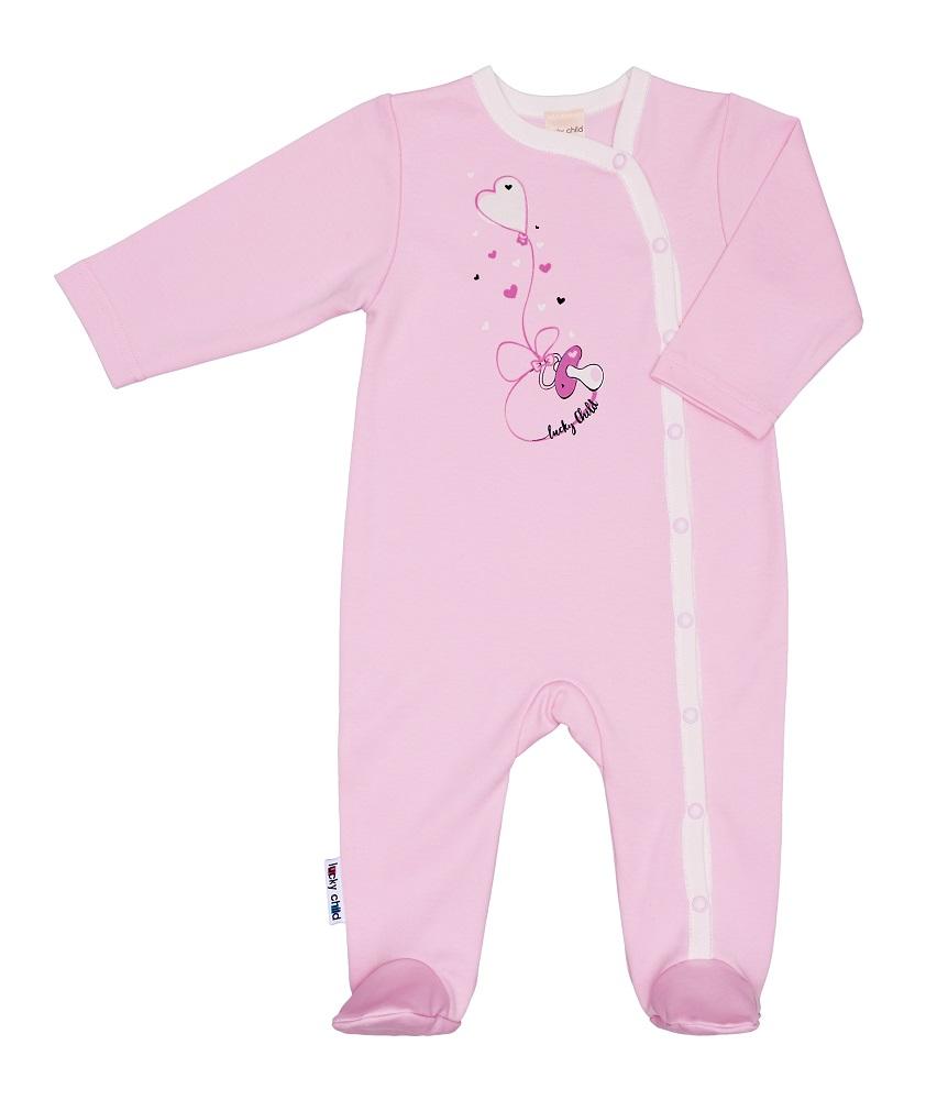 Купить Комбинезон Lucky Child с принтом, для девочки, розовый, Наша Мама, Россия, Розовый, 56