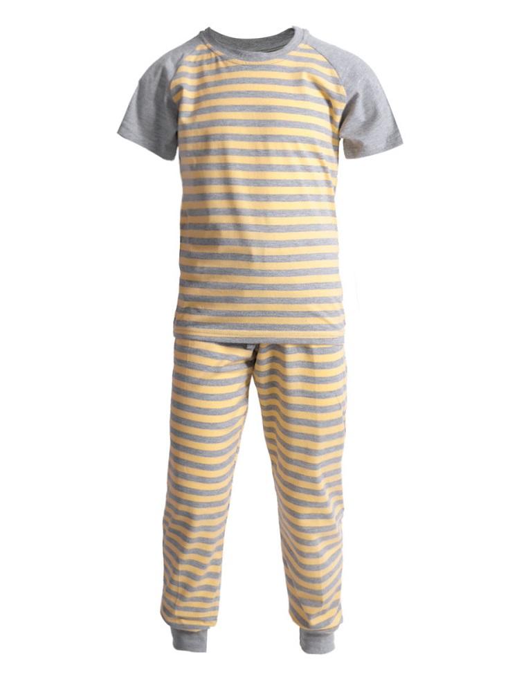 Купить Пижама НОАТЕКС+ для девочки: футболка и брюки, Журавлик, Россия, Серый, 128