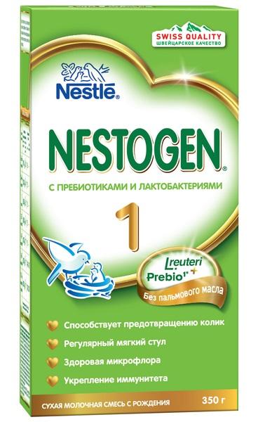 Купить Nestogen® 1 Сухая молочная смесь с пребиотиками и лактобактериями L.reuteri, 350гр, Россия