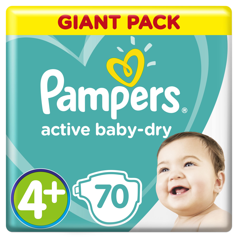 Купить Подгузники Pampers Active Baby-Dry Maxi+ (10-15 кг), 70шт., США