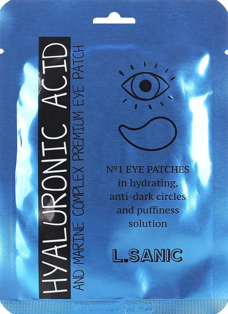 Купить Гидрогелевые патчи L.SANIC для области вокруг глаз с гиалуроновой кислотой и экстрактом водорослей, 2шт., Южная Корея
