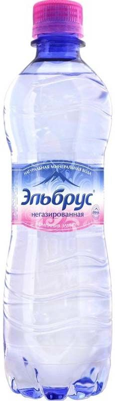 """Вода минеральная лечебно-столовая """"Эльбрус"""" негазированная, 0,5л"""
