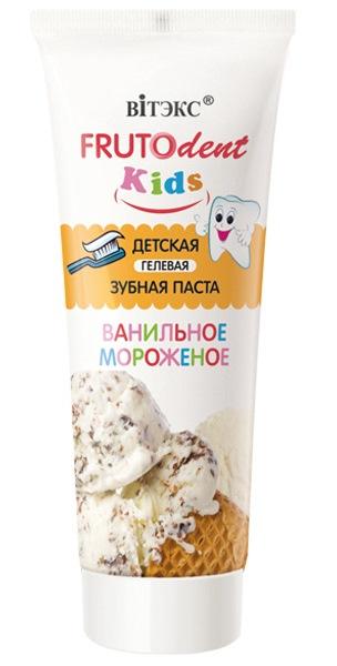 """Детская гелевая зубная паста Витэкс FRUTOdent Kids """"Ванильное мороженое"""", 65гр фото"""