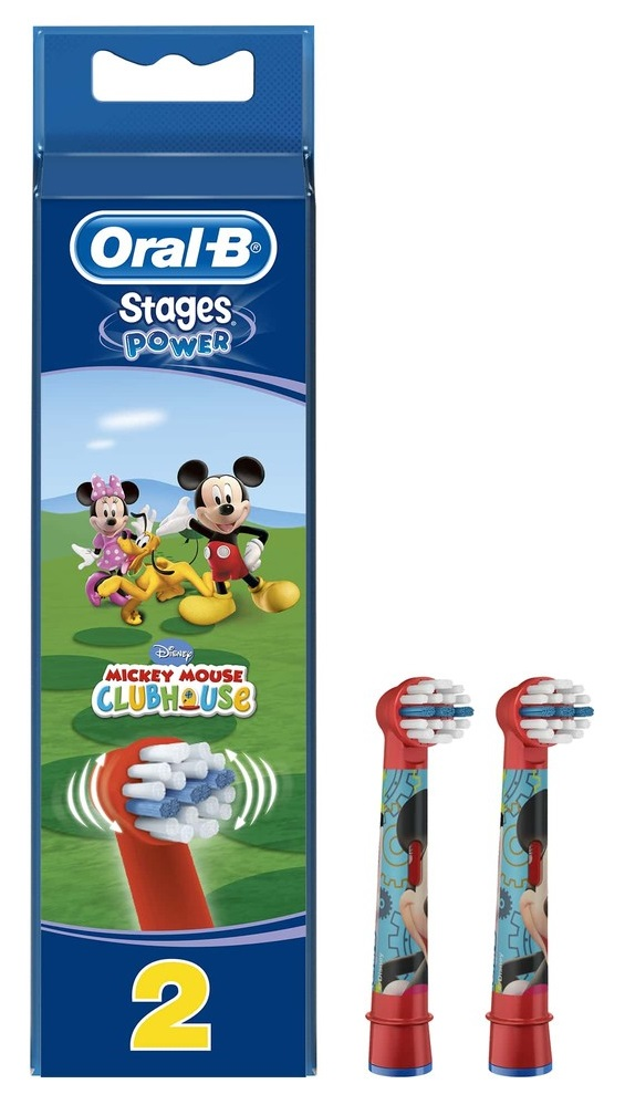 Насадки для электрических детских зубных щеток Oral-B Stages Power, 2шт.