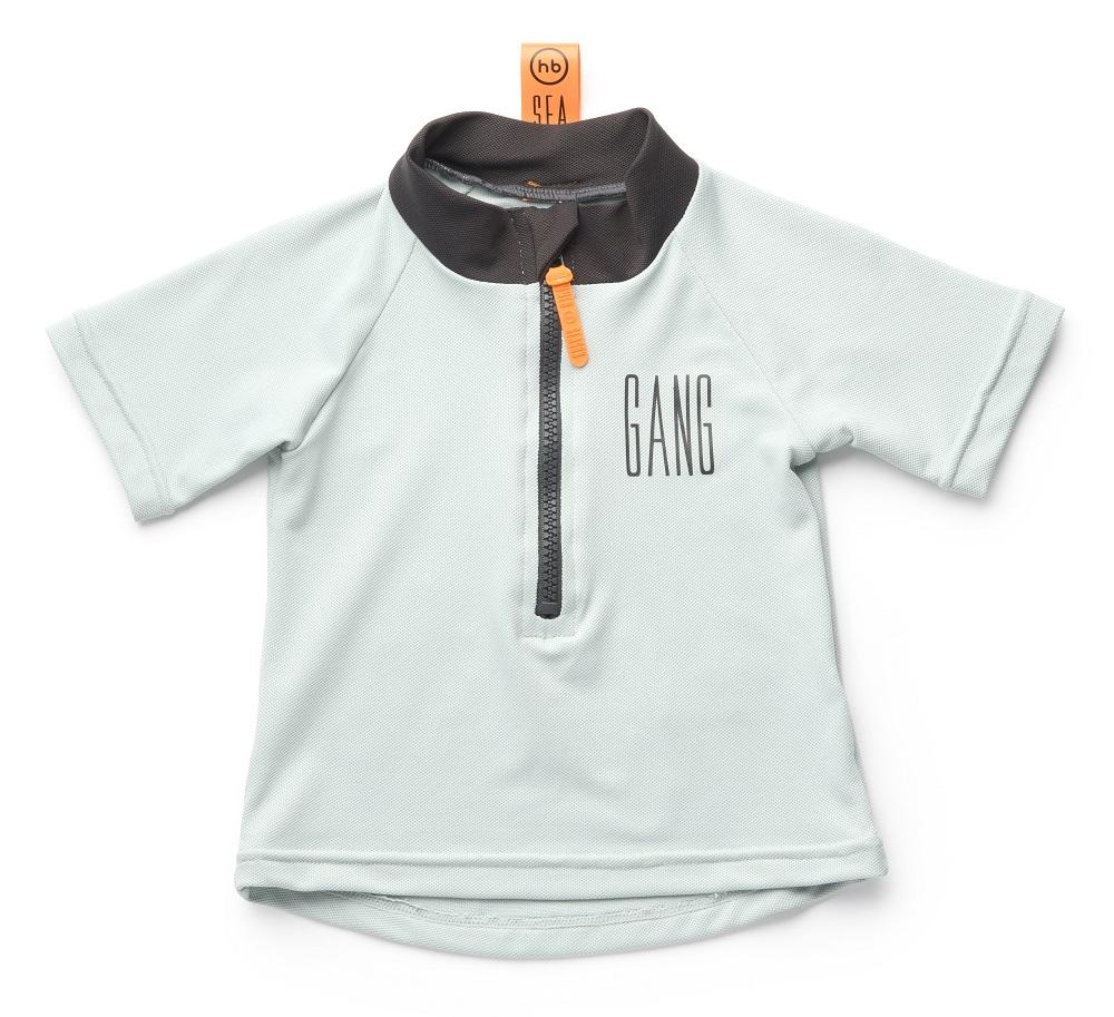 Футболка купальная Happy Baby Gang для мальчика, серая фото