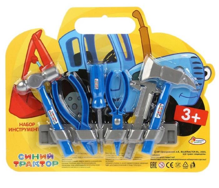Купить Набор строительных инструментов Играем вместе Синий трактор , 28х12х2см, Unknown