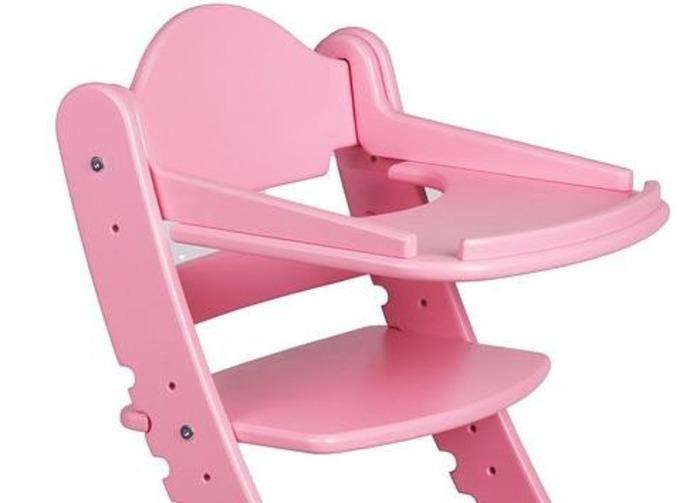 Столик для кормления «Два кота» к стулу М1, розовый фото