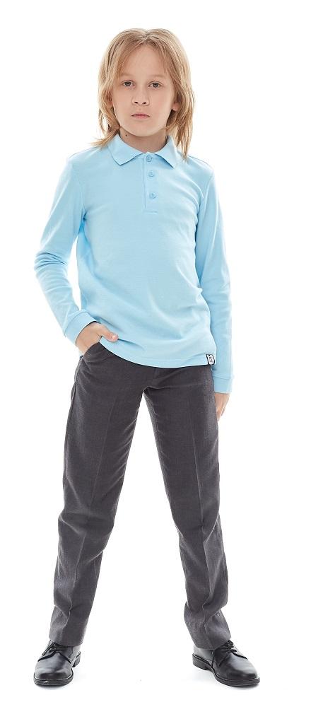 Купить Рубашка-поло UMKA 1S6-013-191 для мальчика, голубая, Сонный Гномик, Россия, Голубой, 140