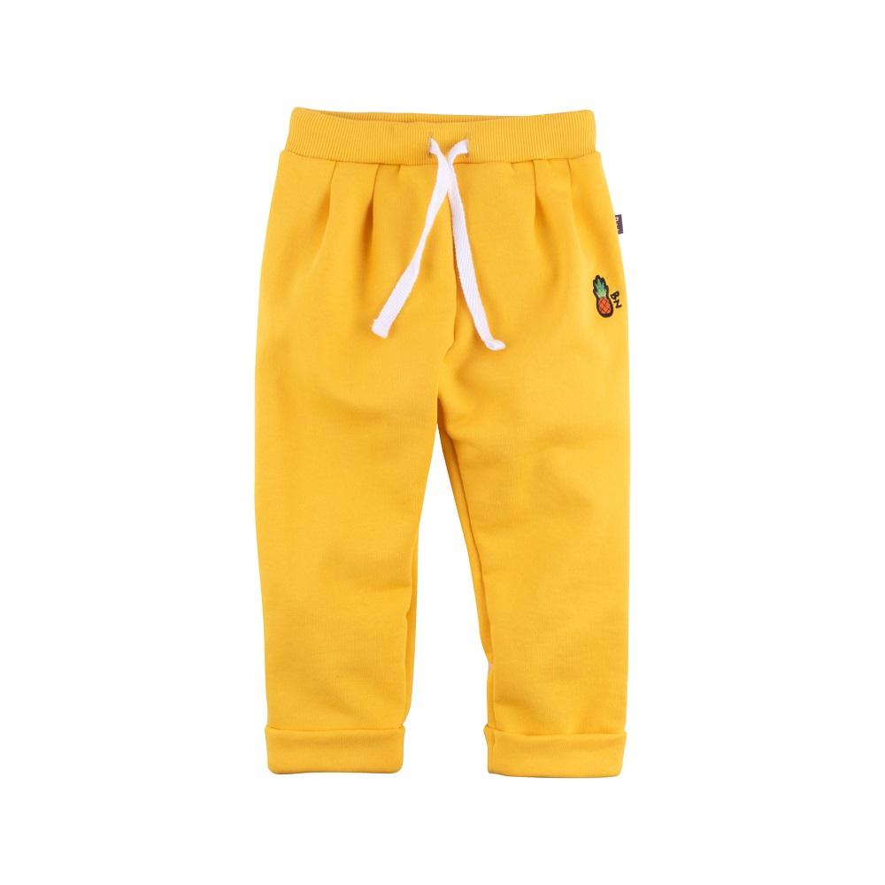 Купить Брюки Bossa Nova Весна с вышивкой для девочки, желтые, Нордтекс, Россия, Желтый, 86