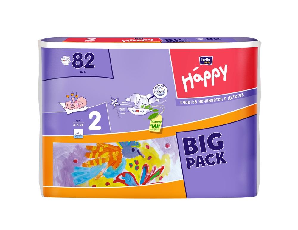 Купить Подгузники Bella Baby Happy Mini 2 (3-6кг), 82шт., Польша