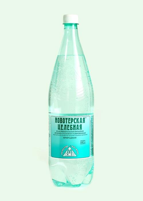 Купить Вода минеральная лечебно-столовая Новотерская целебная , 1, 5л, Россия