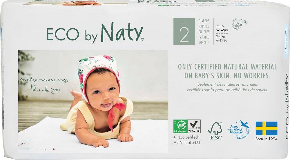 Купить Подгузники Naty 2, 3-6кг, 33шт., Швеция
