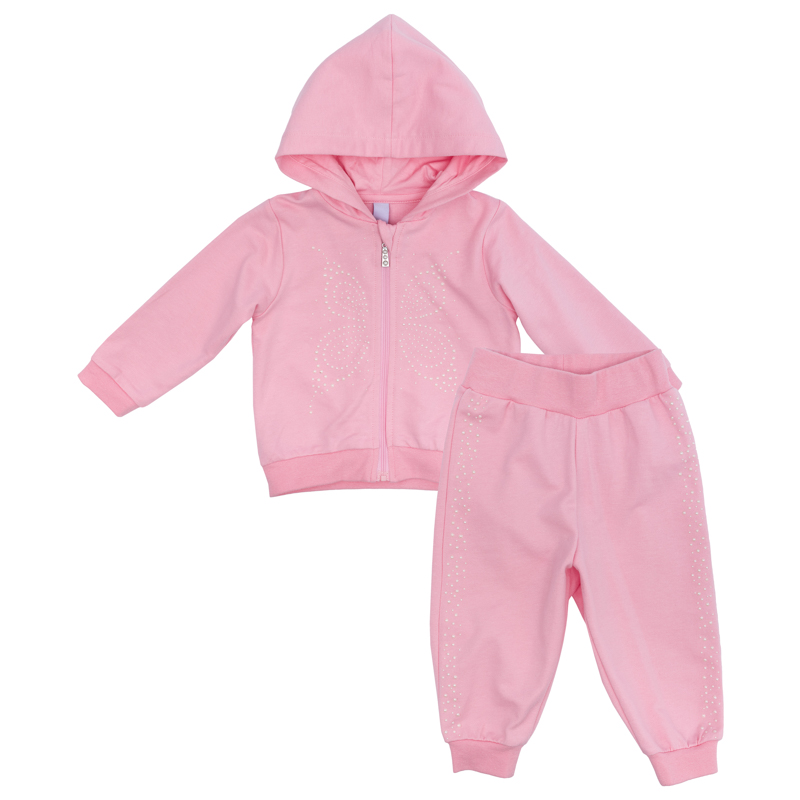 Купить Комплект для девочки PlayToday: кофточка и брюки, розовый, Наша Мама, Россия, Розовый, 56