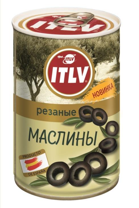 Маслины черные резаные ITLV, 314мл