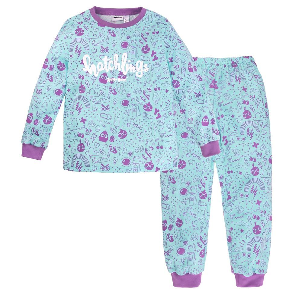 Купить Пижама Bossa Nova Angry Birds для девочки: джемпер и брюки, Витоша, Россия, Мульти, 98