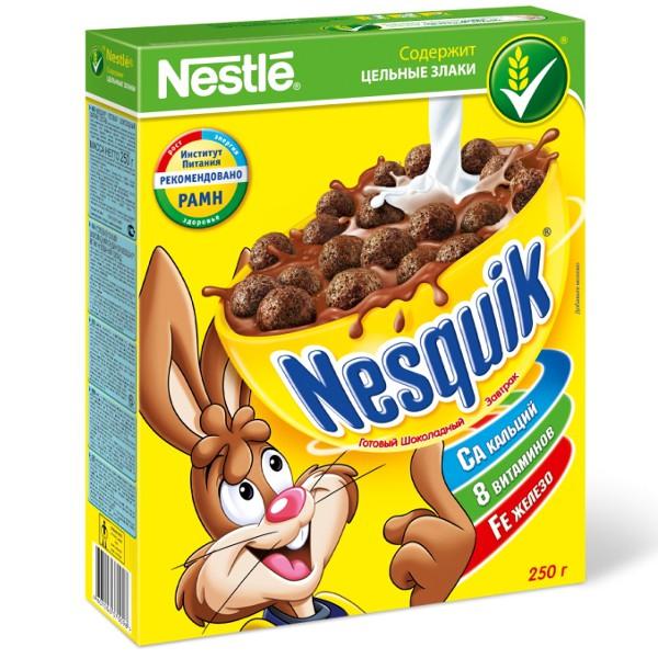 Купить Готовый шоколадный завтрак Nesquik, 250гр, США
