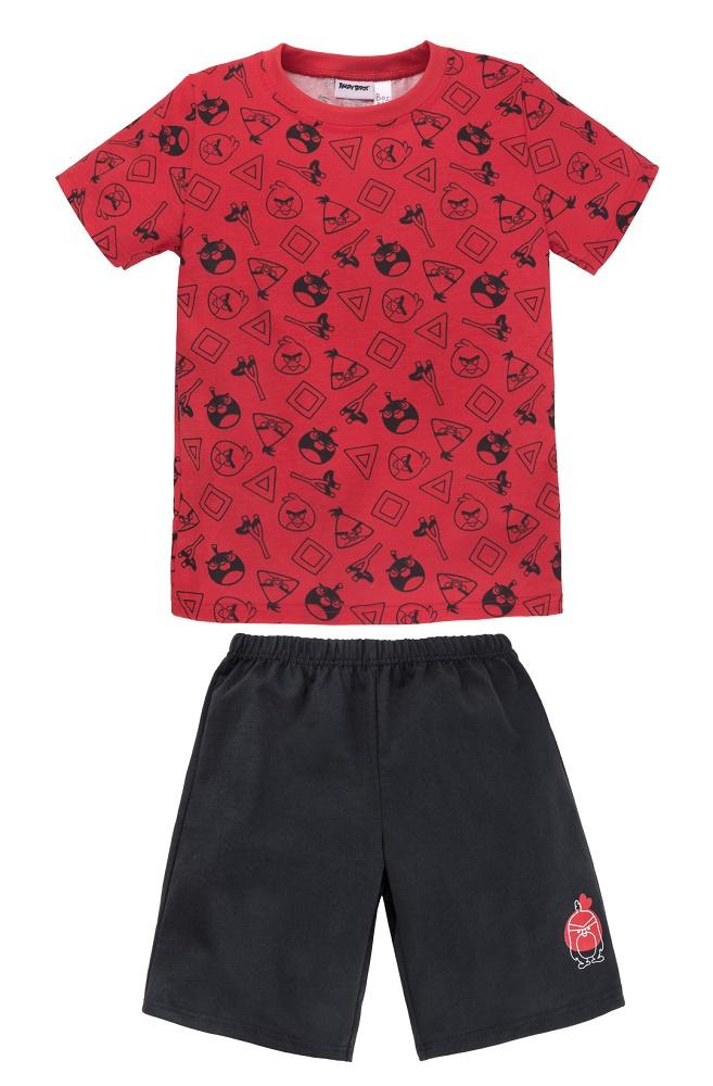 Купить Пижама Bossa Nova Angry Birds для мальчика: футболка и шорты, Витоша, Россия, Мульти, 86