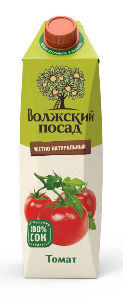 Купить Сок Волжский посад Томат , 1л, Нектар, Россия