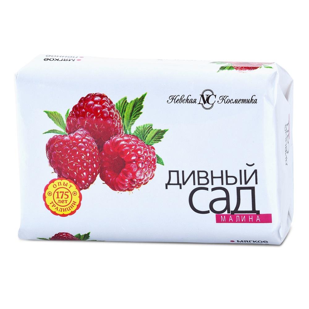 Купить Мыло туалетное Невская Косметика Дивный сад Малина , 90гр, Россия